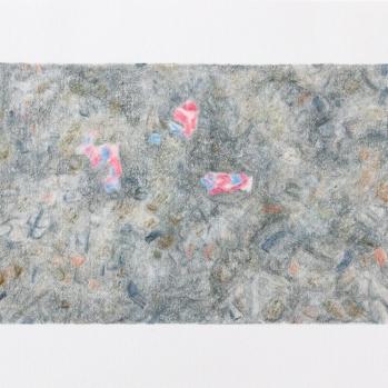 'gravel path, Eltham' 2020: coloured pencil; 20cm x 15cm